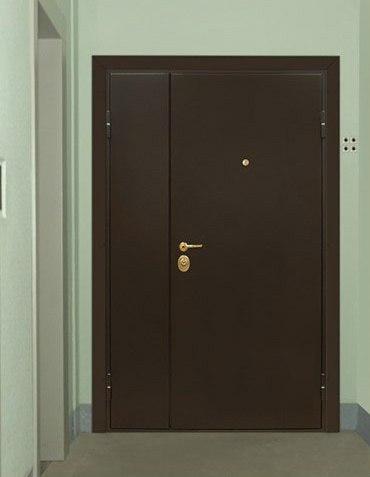 металлические двери установка в тамбуре